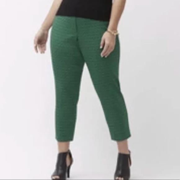 0dfdf2746e5 Lane Bryant Pants - Lane Bryant Lena Ankle Pant Jacquard Green Black